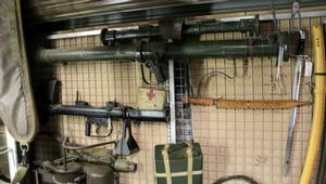 Some of the weapons seized from Lugarno.