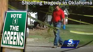 The tragic shooting death of a young Melbourne man in Oklahoma, USA, has been used by the Greens to promote its political agenda.
