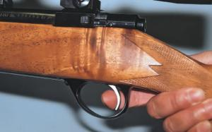 A good crisp trigger that breaks cleanly is essential for accurate shooting. Pressure should be applied steadily.