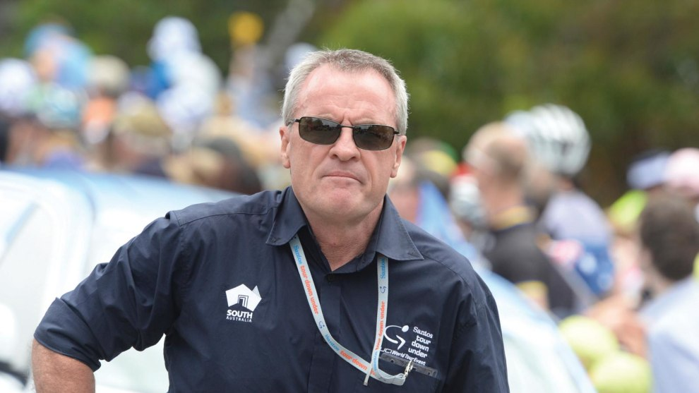 Outgoing Santos Tour Down Under Race Director Mike Turtur. After 22 years in the top job Turtur will be replaced by former event winner and Aussie cycling icon Stuart O'Grady.