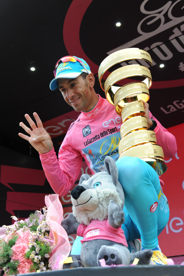 """Nibali, how many Grand Tour wins now?"" Photo by Sirotti"