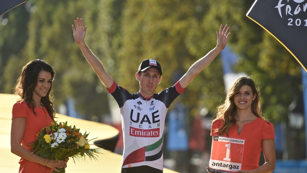 Dan Martin of Team UAE was awarded 'Most Combative Rider' of the 2018 Tour. Image: Sirotti
