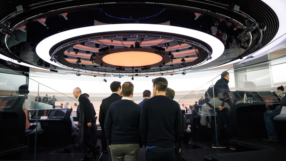 Images from the official Bahrain McLaren launch could easily be confused with shots from the set of a Bladerunner 2049 sequel! Scroll right for more. All Images: Bahrain McLaren.