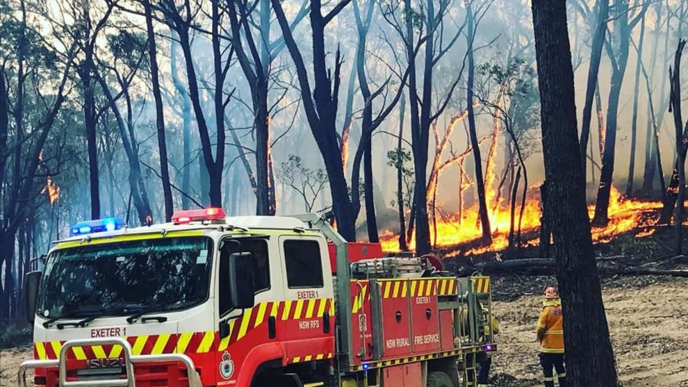 Members of the Southern Highland's Exeter Rural Fire Brigade have been on the front line, defending the region from bushfires. Image: Exeter RFS.