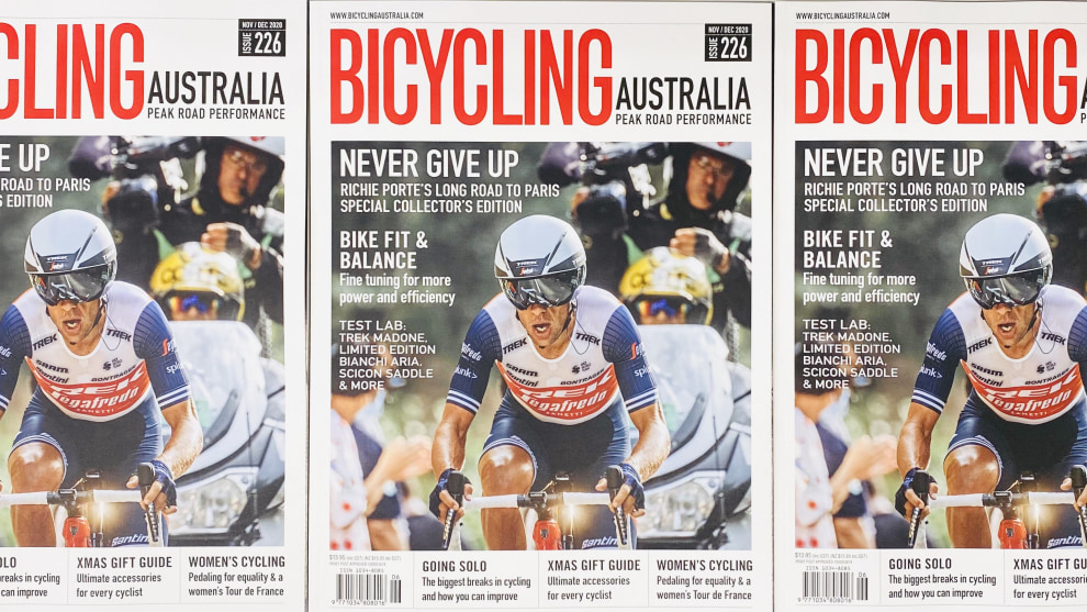 The latest edition of Bicycling Australia features Richie Porte on the cover - grab your copy today.