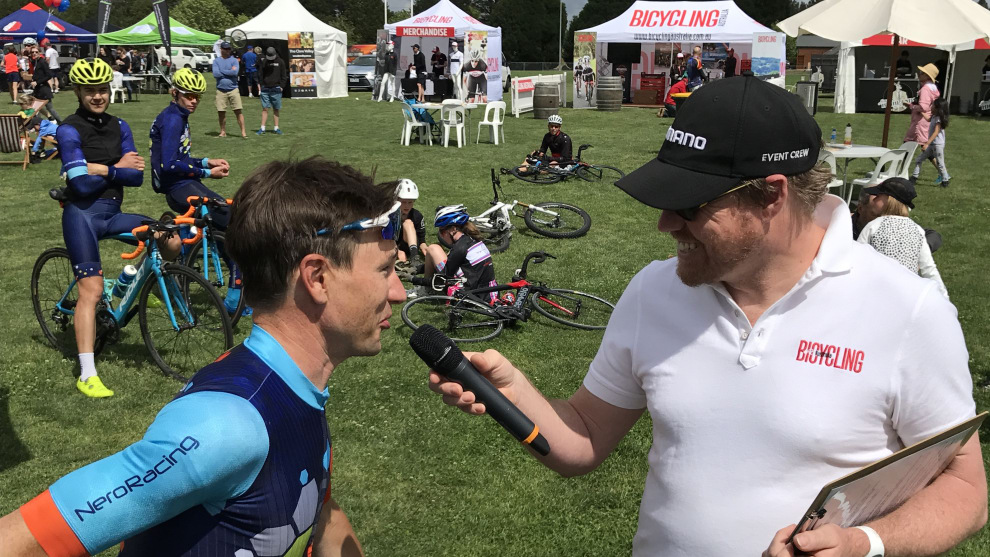Event compare Paul Craft speaks with Chris Miller who completed the 160km Maxi-Classic course in under 4 hours.