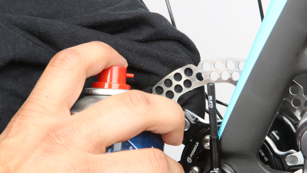 Disc brakes are coming and with them comes a host of extra things to be aware of. If you're an early adopter, make sure that you never get any oil on the rotors or pads. If a splash inadvertently lands on them, wipe them thoroughly with disk brake cleaner and a clean rag. Once contaminated, the pads will be a throw away item, so take care when lubing the chain or quick release skewers.