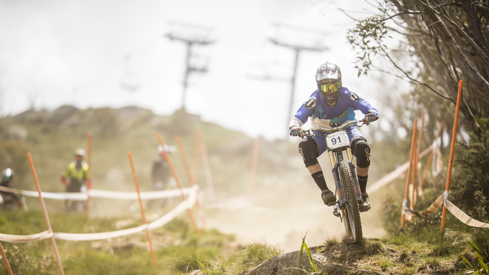 Downhill action in Thredbo, photo by Tim Bardsley-Smith