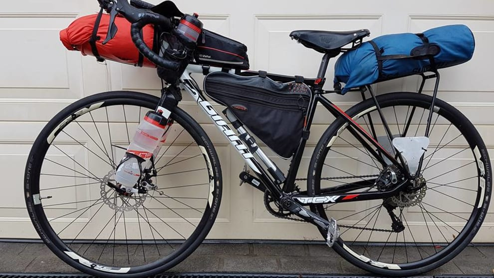 The Giant TCX Paul Ardill will be riding 5500km across Australia. Image: Supplied.