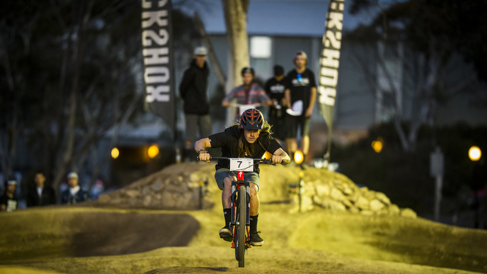 Remy Morton winner of the ROCK SHOW Pump Track, photo byTim Bardsley-Smith
