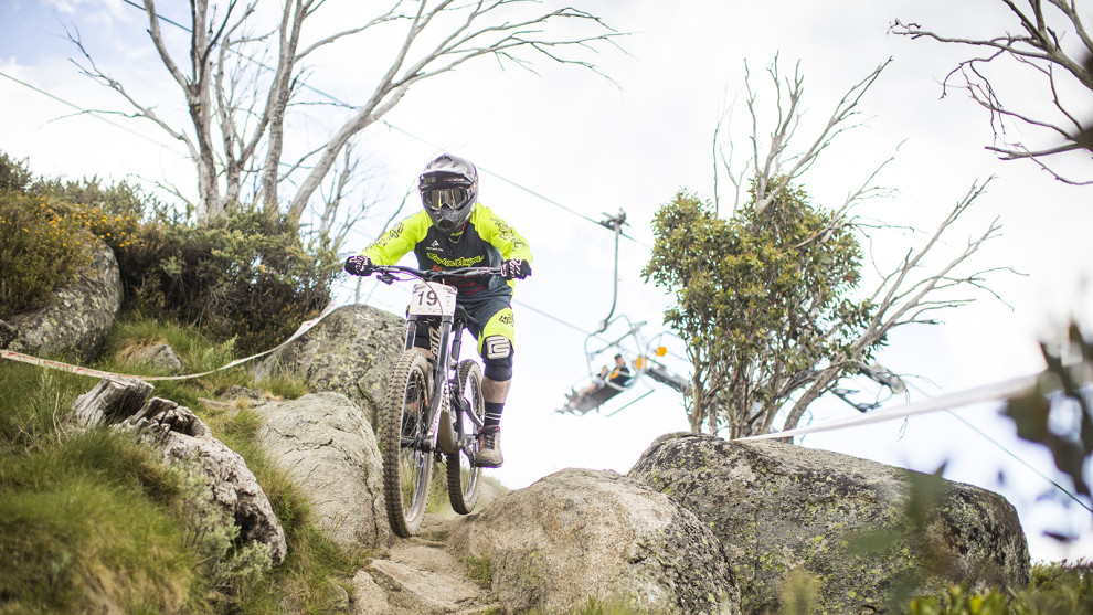 Rock garden on the Cannonball Downhill, photo byTim Bardsley-Smith