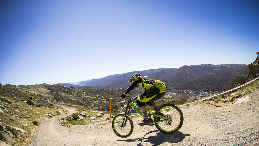 Top of the Cannonball Downhill, photo by Tim Bardsley-Smith