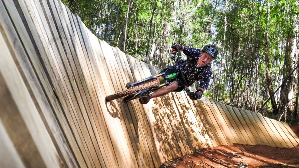 David Roderick-Smith hooks into the second of two G-force inducing turns on Relentless Blue 