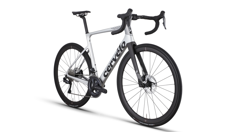 The Caledonia 5 with Ultegra Di2 in Silver & Black.