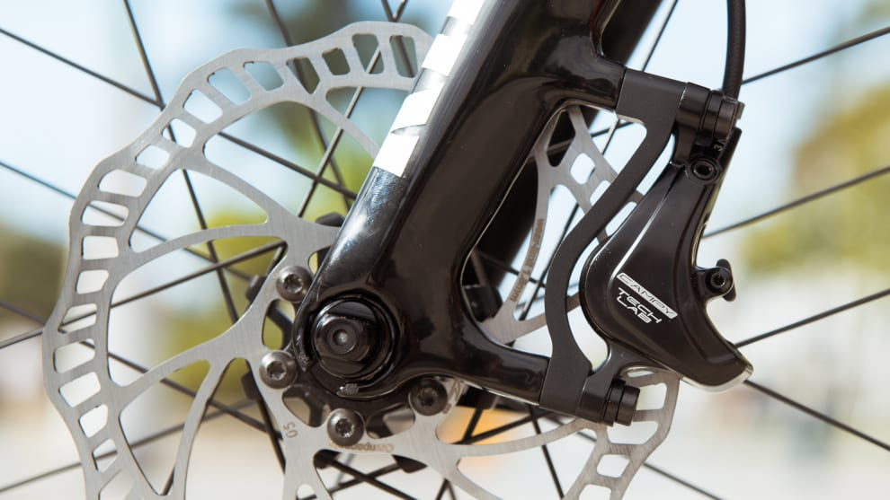 The recently released Campagnolo Ergopower disc brakes. Image: Campagnolo.