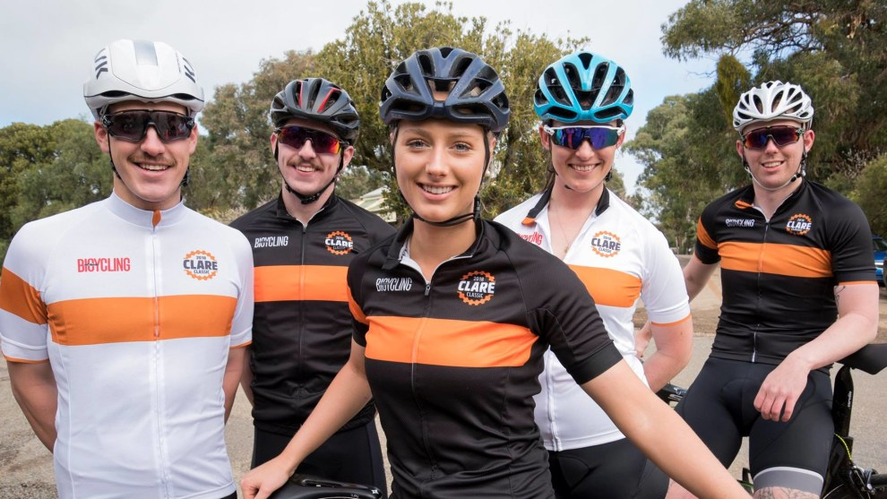 Some of the Clare Classic event ambassadors take a break during a ride of the stunning Clare Valley course.