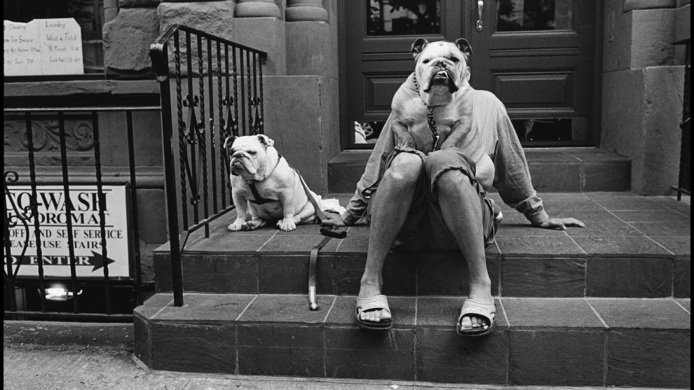 "Elliott Erwitt, New York City, USA. 2000. ""I am obsessed with dogs—because they remind me of people but with more hair."" © Elliott Erwitt/Magnum Photos"