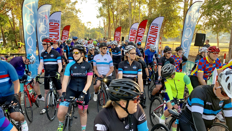 Riders at the start of the 2019 Noosa Classic - the event will be back for a third year in August 2020.
