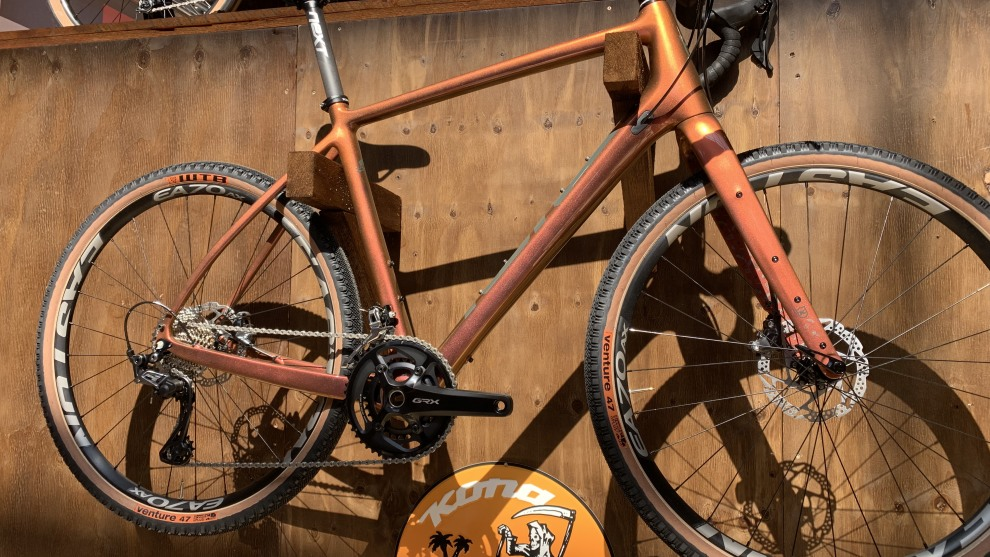 Ready for anything - this Kona adventure bike at Eurobike 2019.