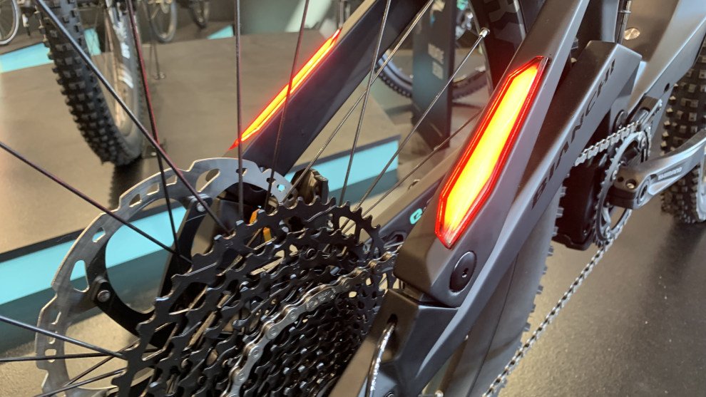 Incorporated taillights in the new Bianchi SUV MTB.