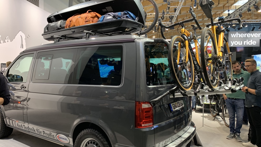 Ready for the weekend - a dream VW Transporter at the Thule stand.