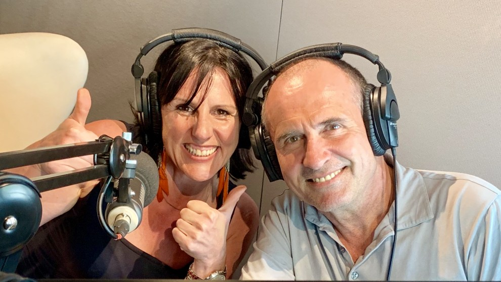 Julie-Anne Hazlett and Rupert Guinness, special guests on the latest Bicycling Australia Podcast.