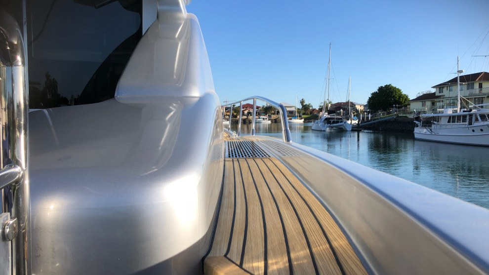 These days, vinyl wraps are more widely accepted as a means of protecting a boat's gelcoat.
