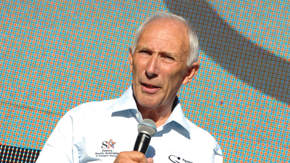 Elder statesman of the sport and true cycling legend, Phil Liggett.