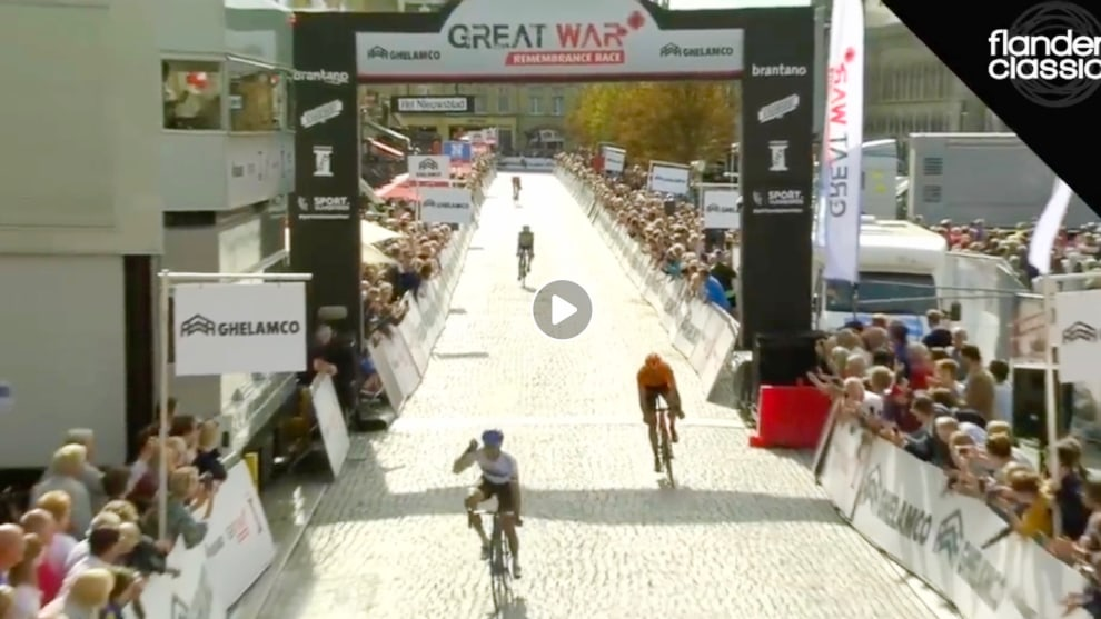 The Estonian National Champion Mihkel Räim is the first ever winner of the Great War Remembrance Race.
