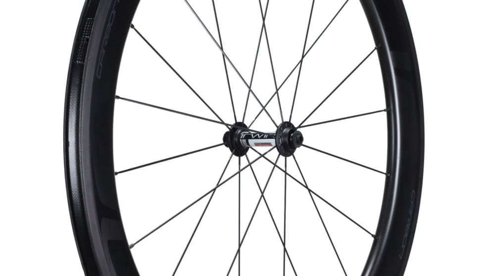 Irwin's carbon clinchers integrate ceramic fibres into the brake track to keep rim temperatures well below critical Tg for safer braking in long downhill situations.
