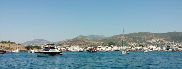 The Bodrum anchorage.
