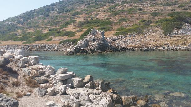 Entrance to the Trireme Harbour at Knidos.