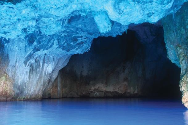 Dazzling hues of the Blue Cave.