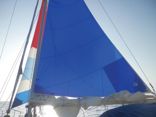 Works on a beam reach or a proud run with poled-out spinnaker.