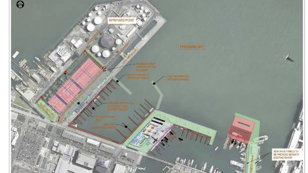 The new America's Cup bases plan agreed to for Auckland. Image Emirates Team New Zealand.
