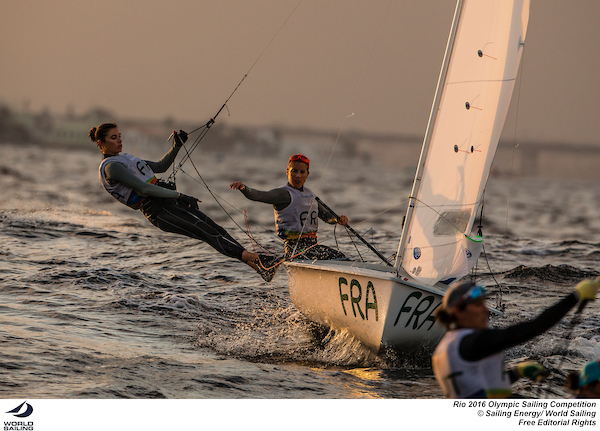 470 Women France. Photo Sailing Energy/World Sailing.