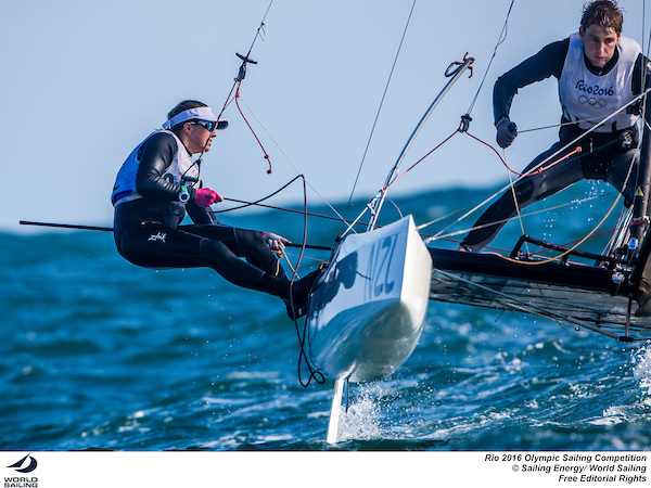 Nacra 17 New Zealand. Photo Sailing Energy/World Sailing.