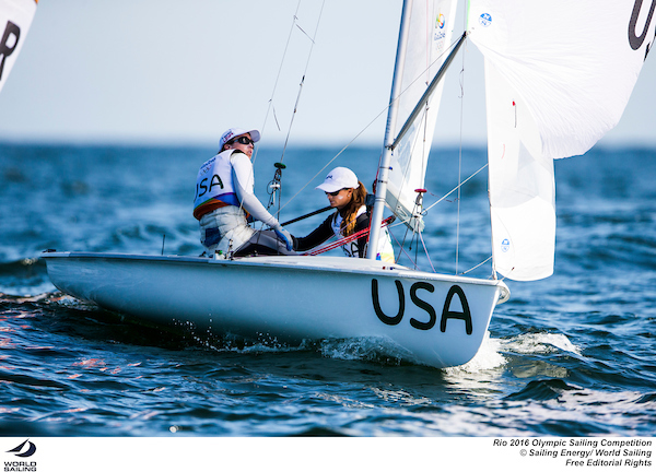 470 Women USA. Photo Sailing Energy/World Sailing.