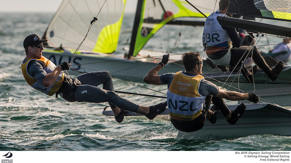 Peter Burling and Blair Tuke (NZL). Photo Sailing Energy/World Sailing.