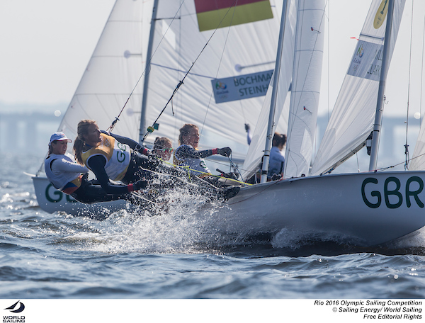 470 Women GBR. Photo Sailing Energy/World Sailing.