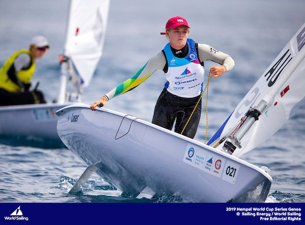 Mara Stransky at Sailing World Cup Genoa in 2019. Photo ©PEDRO MARTINEZ/SAILING ENERGY/WORLD SAILING