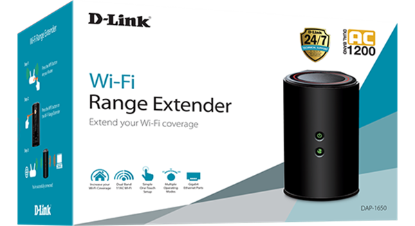 D-Link Wireless AC1200 Dual Band Gigabit Range Extender