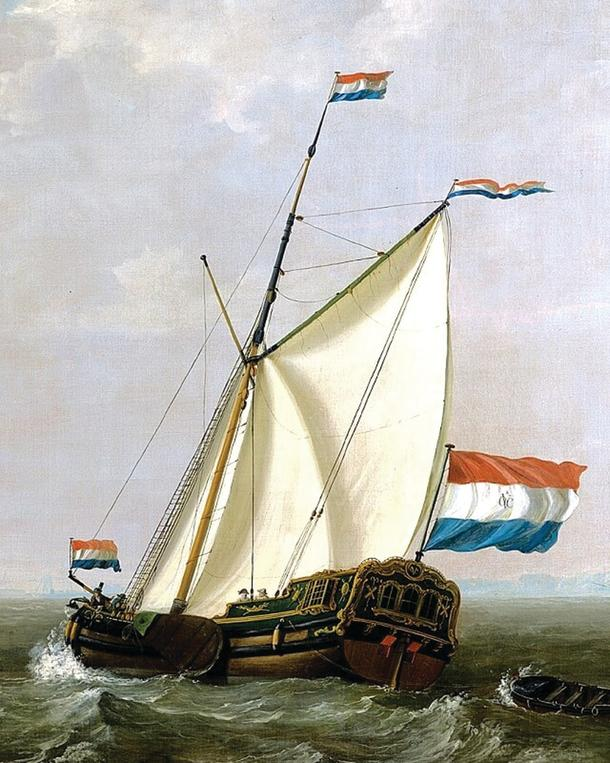 A 17th century Dutch yacht.