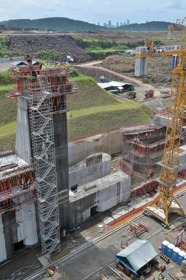 Panama Canal extension under construction a few years back.