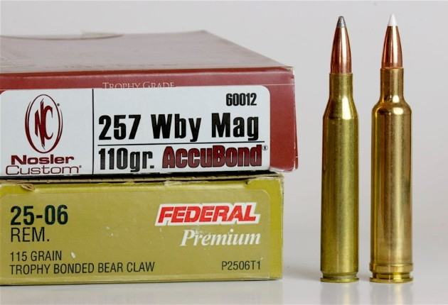.257 Weatherby and .25-06 cartridges compared SxS