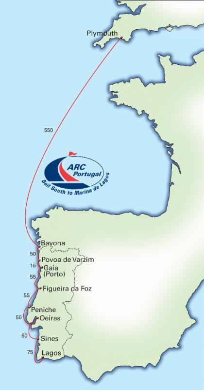 ARC Portugal route map