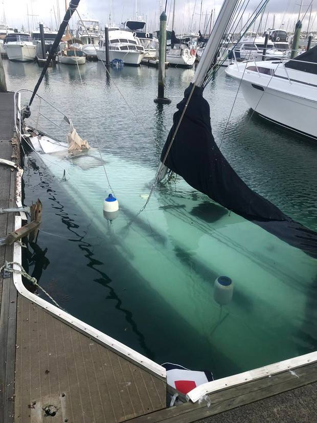 Several yachts were damaged or sank in last night's storm. Photo / Melanie Homer/NZ Herald.