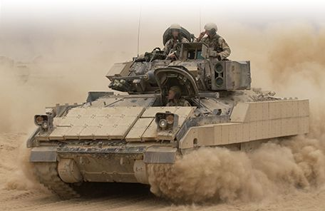 Rafael produces two types of add-on armour for AFVs such as the Bradley. Credit: Rafael