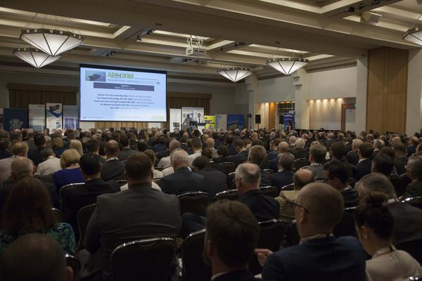 CASG DepSec Kim Gillis speaks to the packed house on Wednesday. Credit: ADM Leigh Atkinson