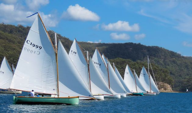 Couta start on Pittwater. Photo Bob Fowler.